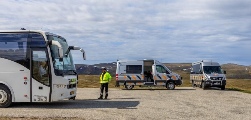 Tungbilkontroll på Magerøya