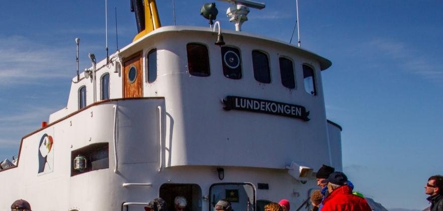 Båttransport fra fiskeværene til Honningsvåg