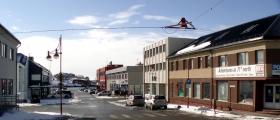 En helt vanlig mandag i Honningsvåg sentrum