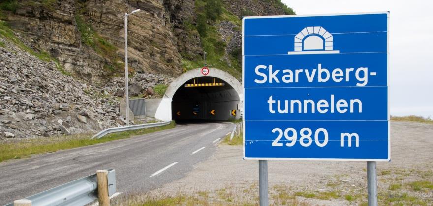 Skarvbergtunnelen stengt
