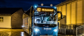 Innstilte alle bussavgangene fra Honningsvåg på mandag
