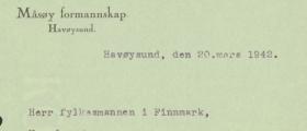 9. april 1940 - Måsøy-ordfører rapport