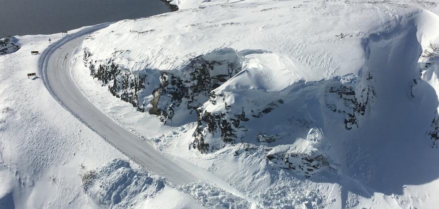 Skarvbergtunellen til Honningsvågtunellen stengt etter ras lørdag kveld