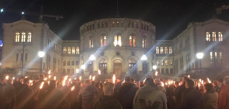 Demonstrerte utenfor Stortinget
