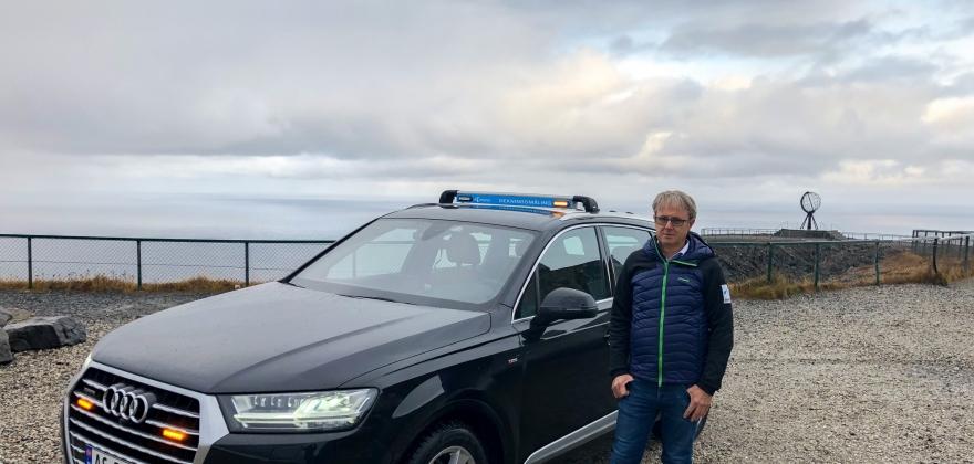 Nedgang i mobiltrafikken på Nordkapp i juli