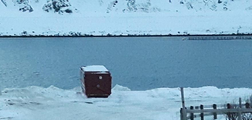 Har flyttet containeren i Nordvågen