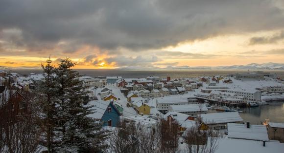 Solen viste seg i Honningsvåg