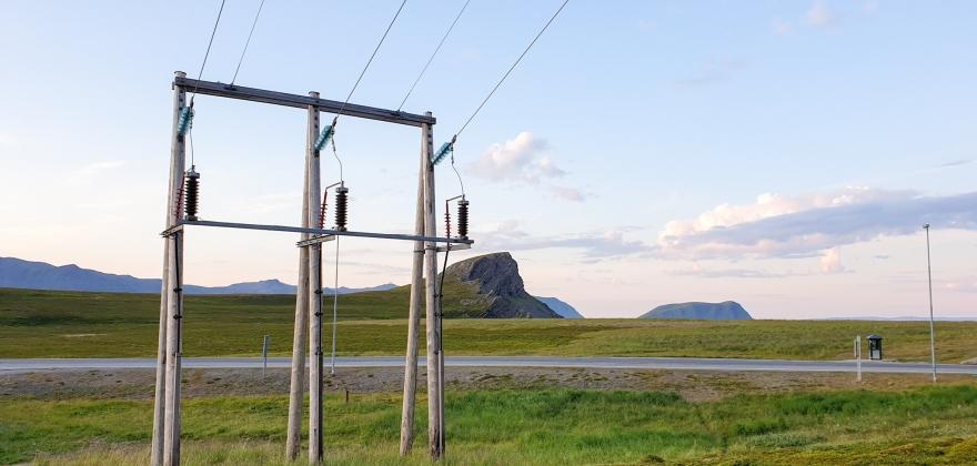 Kort strømutkobling i Porsanger