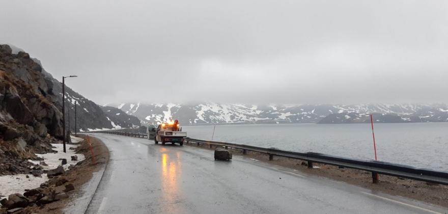 Stein på veien i Skipsfjorden