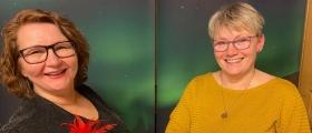 Linda Hansen og Bjørg Olsen delte ut mange premier