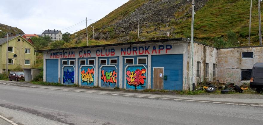 Nordkapp MC Klubb har overtatt AmCar-bygget