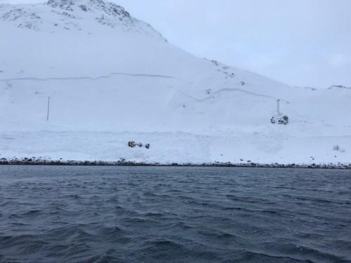 !Raskanten øverst i bilde Foto Avinor Honningsvåg