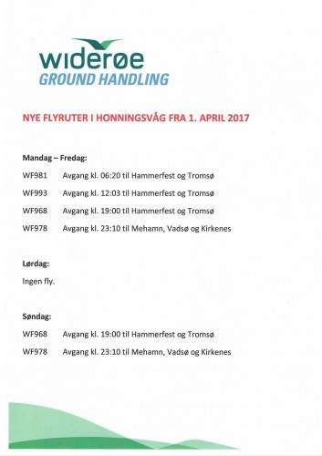 !Plakaten Honningsvåg Flyekspedisjon har satt opp.