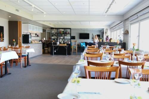 !Den nye restauranten ved Hotel Nordkyn i Kjøllefjord.