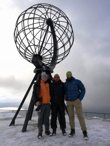 !Startet marsjen fra Nordkapp-platået i april, en måned med vinter i Nordkapp. (Foto: Ronald Hansen)