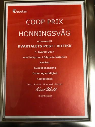 !Diplomet som har ankommet Honningsvåg.