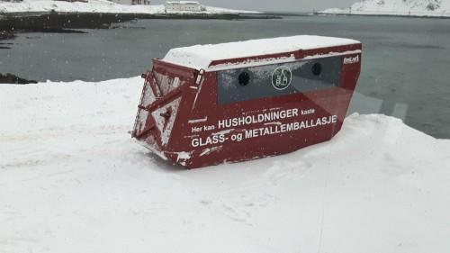 !Containeren til Finnmark Miljøtjeneste.