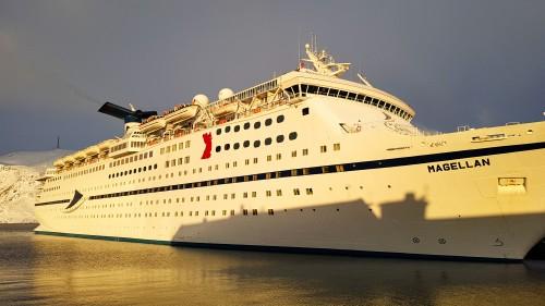 !«Magellan» årets første cruiseskip i Honningsvåg.