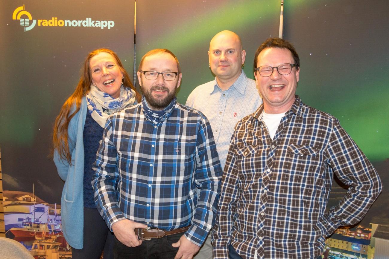 !Fra venstre: Kari Lene Olsen, Lars-Helge Jensen, Hugo Salmonsen og Jan Olsen.