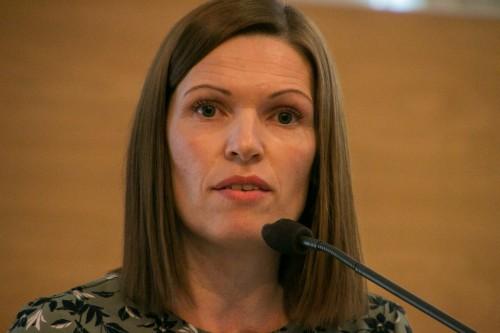 !Stine Akselsen, snakket lørdag om fiskeripoltikk under programdebatten