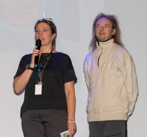 !fra venstre Ida Balto filmfestivalen og filmskaper Petri Stormlöpare