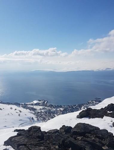 !Utsikten fra Storfjellet.