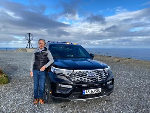 !Bjørn Amundsen på Nordkapp september 2021