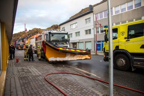 !Nordkapp brann og redning var raskt på plass.